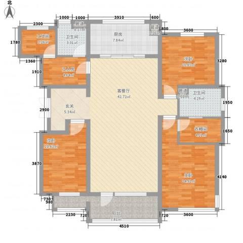 怡通家园3室1厅2卫1厨166.00㎡户型图