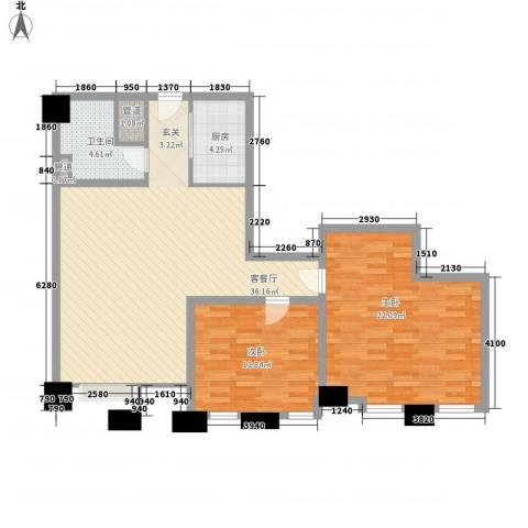 芝麻街2室1厅1卫1厨122.00㎡户型图