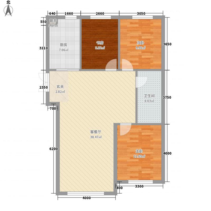 新华国际公寓E号121.68㎡新华国际公寓E号户型图E户型图3室1厅1卫1厨户型3室1厅1卫1厨