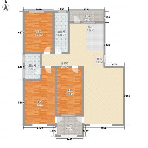 钛子阁3室1厅2卫0厨190.00㎡户型图