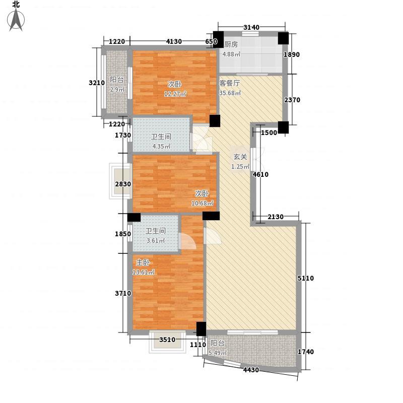 联华城市广场133.28㎡F(2011-12)户型