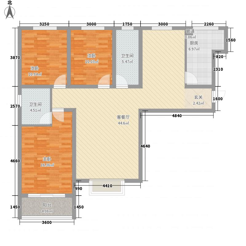 宝龙・翡翠城20号楼标准层F户型