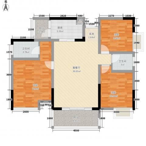 朗园3室1厅2卫1厨103.37㎡户型图