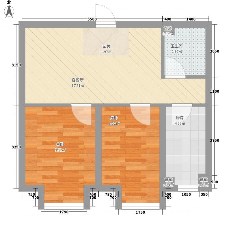 宏亚竖琴湾60.00㎡宏亚竖琴湾户型图B户型户型10室