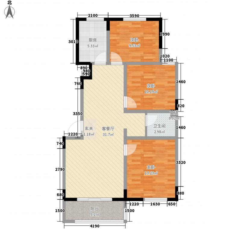 金榜龙城一期27号楼B户型3室2厅1卫1厨