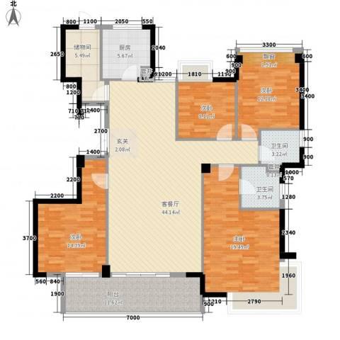 朗园4室1厅2卫1厨142.80㎡户型图