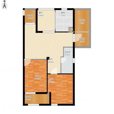 和美城2室2厅1卫1厨140.00㎡户型图