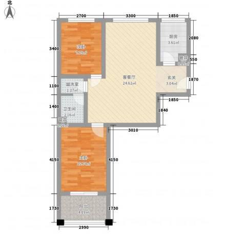 天波嘉和苑2室2厅1卫1厨79389.00㎡户型图