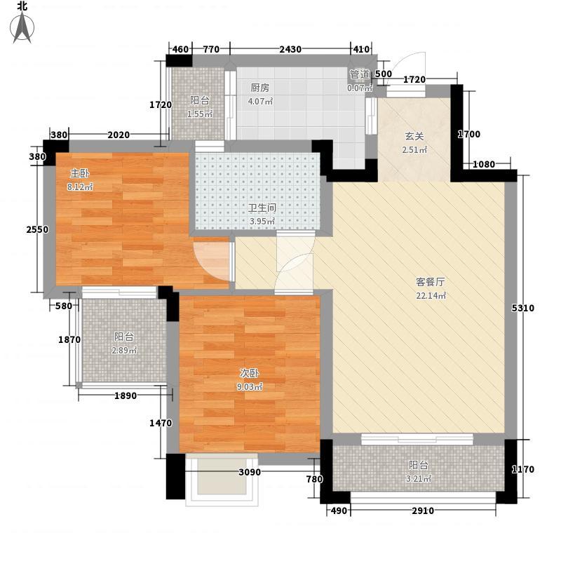 国瑞爱与山C区3幢3单元标准层1号房户型