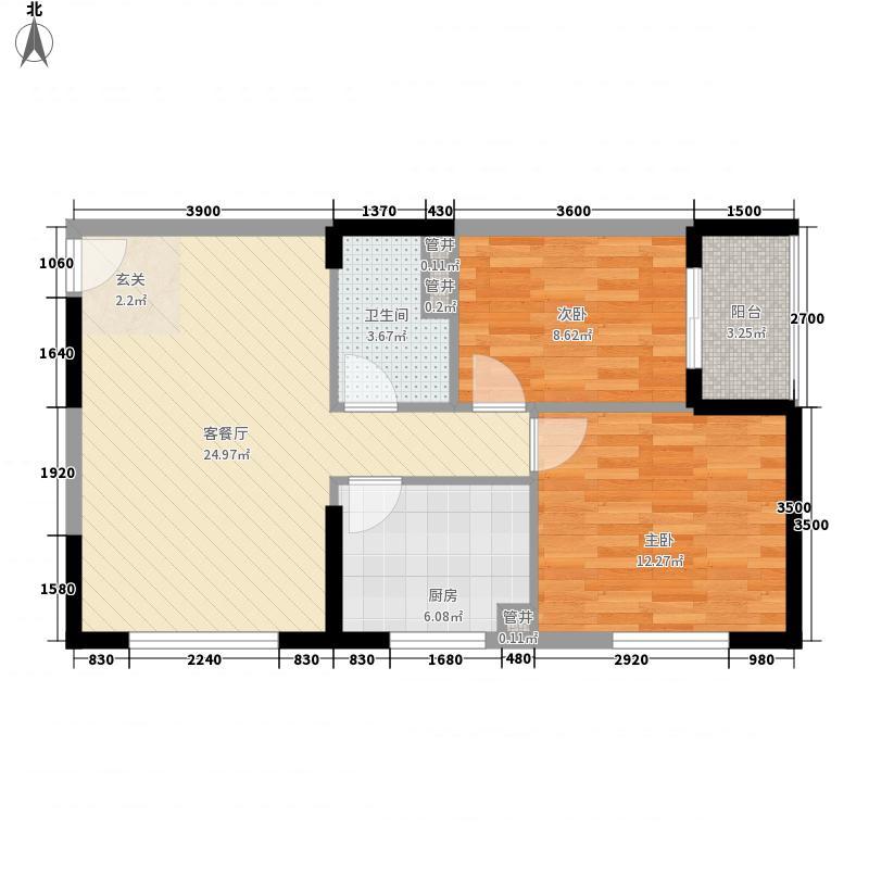 德诚公寓76.88㎡德诚公寓户型图A2户型平面图2室2厅1卫1厨户型2室2厅1卫1厨