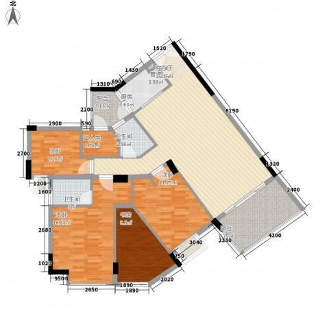 泰富御山郡4室1厅2卫1厨129.00㎡户型图