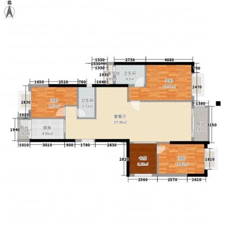 高雅湾4室1厅2卫1厨135.00㎡户型图