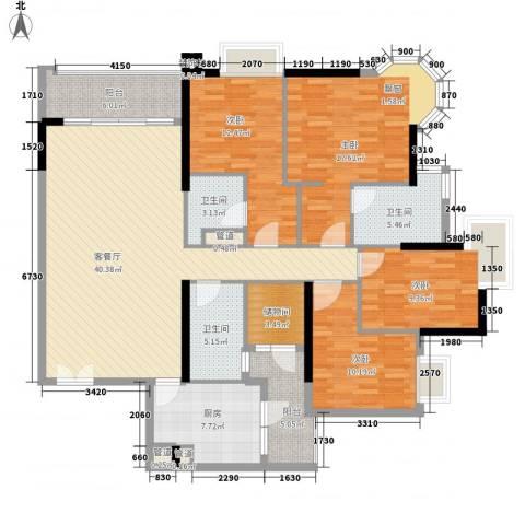 高雅湾4室1厅3卫1厨180.00㎡户型图