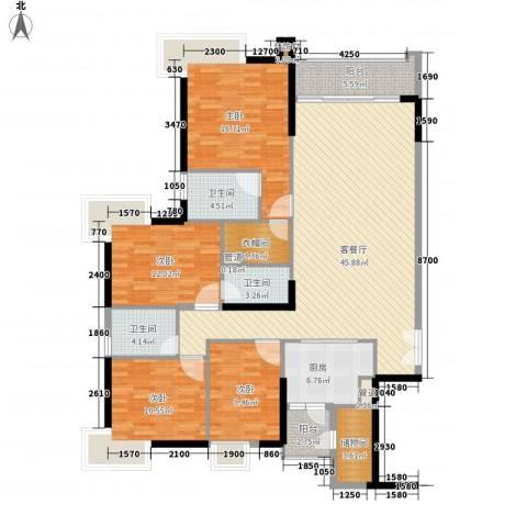 高雅湾4室1厅3卫1厨182.00㎡户型图