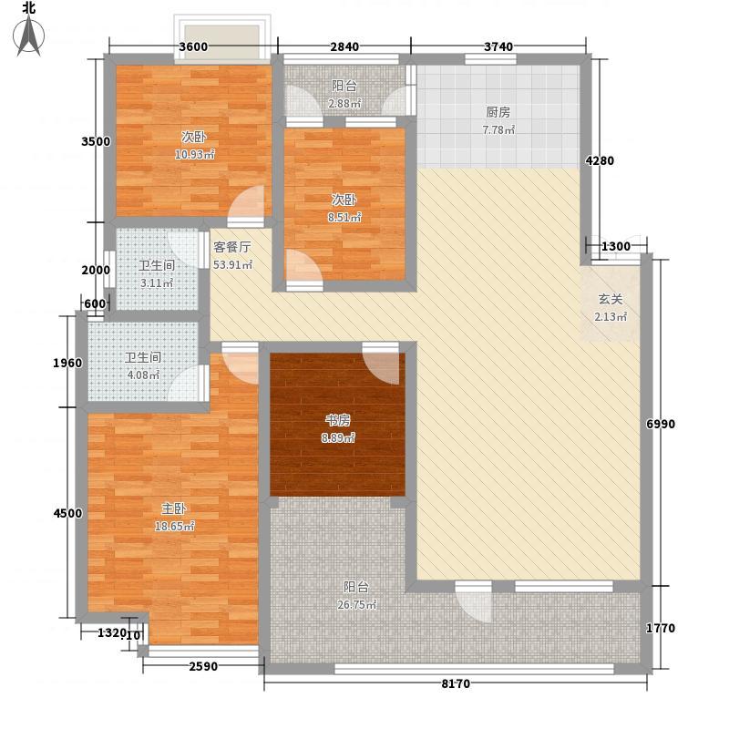 省广电局白马路单位宿舍125.00㎡省广电局白马路单位宿舍3室户型3室