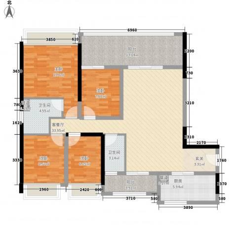 金碧世家4室1厅2卫1厨101.88㎡户型图