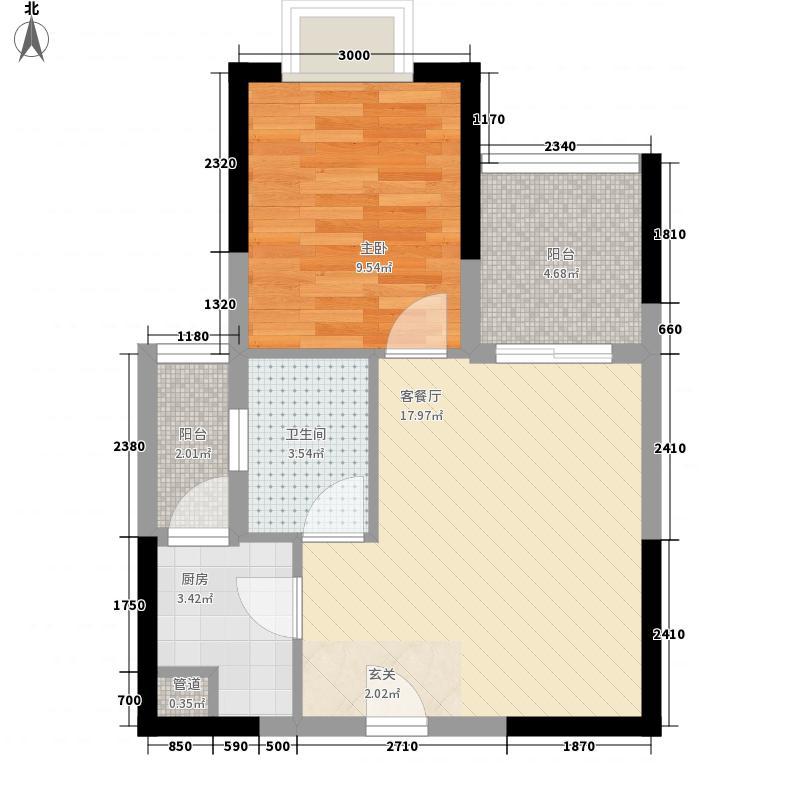 中建・华府F6栋4号楼一室两厅一卫户型10室