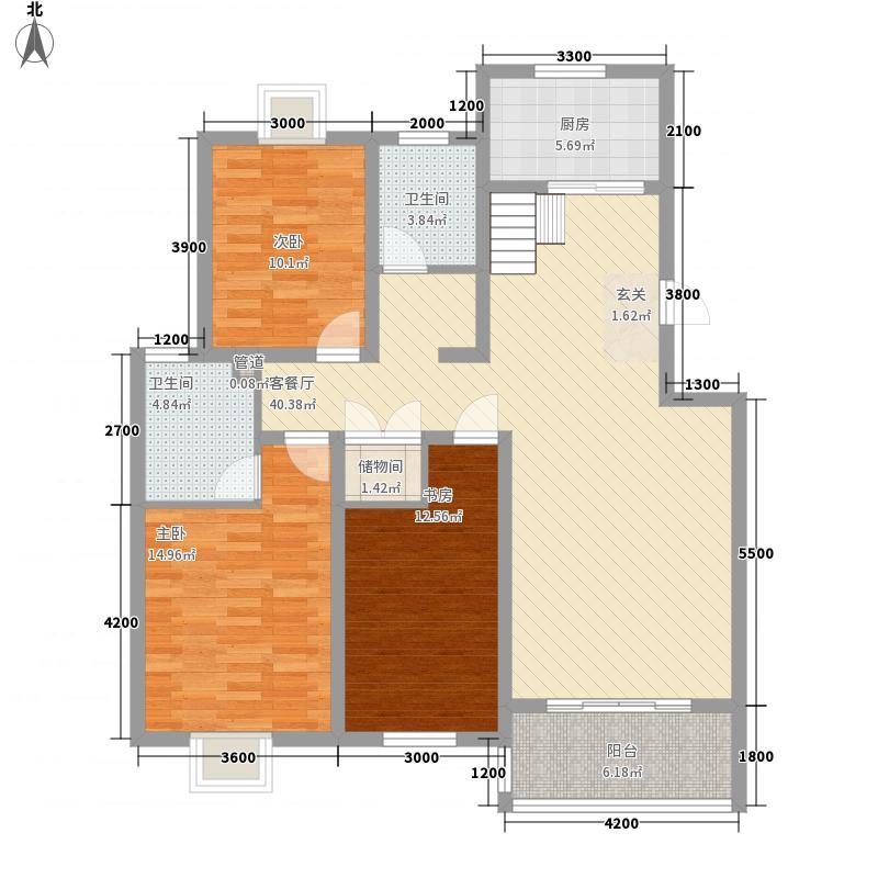凯旋新城嘉苑7.10㎡11、14、18#楼F21层户型2室1厅1卫