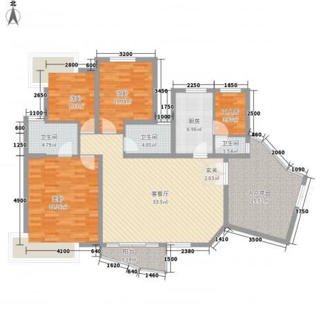 盛世8号3室1厅3卫1厨137.00㎡户型图
