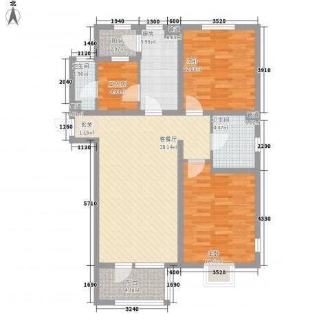 新梅香苑2室1厅2卫1厨112.00㎡户型图