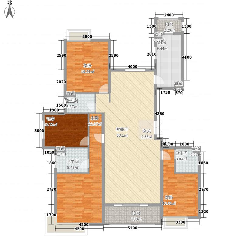 世茂天城16.80㎡一期高层6#楼La户型4室2厅3卫1厨