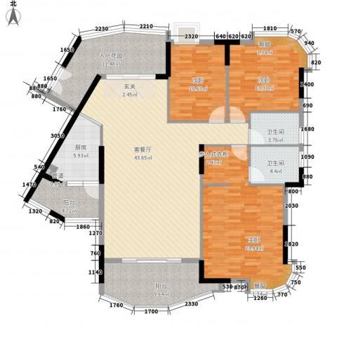 景亿凤凰谷3室1厅2卫1厨147.00㎡户型图