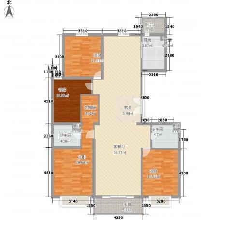 北环盛世4室1厅2卫1厨191.00㎡户型图