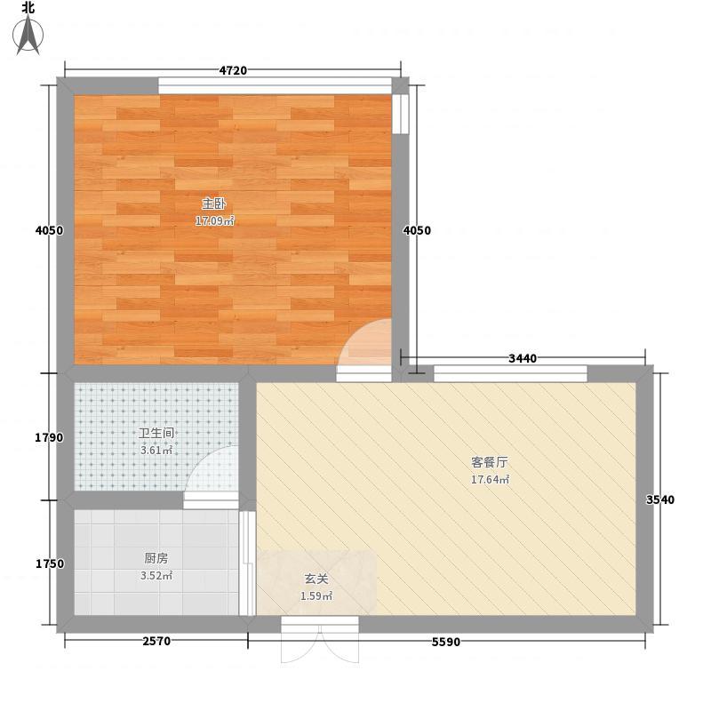 优族联盟60.00㎡优族联盟户型图1室户型图1室1厅1卫1厨户型1室1厅1卫1厨