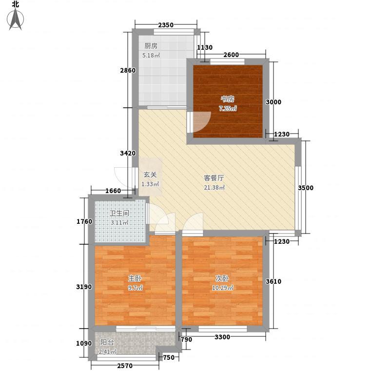 金凤苑小区2111户型2室1厅1卫1厨