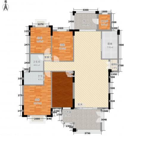 尚品世家4室1厅2卫1厨143.16㎡户型图