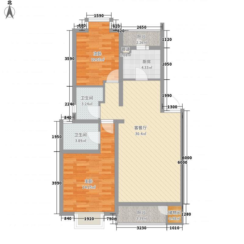 纺织二村68.00㎡纺织二村2室户型2室