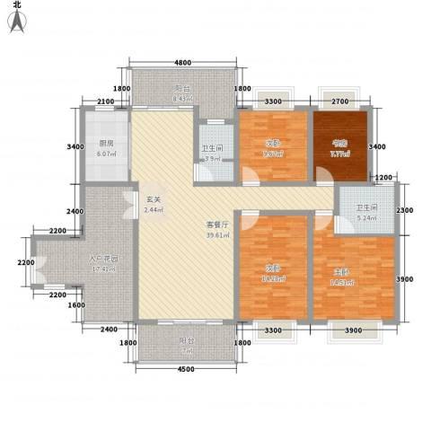 龙潭春天商住楼4室1厅2卫1厨155.00㎡户型图