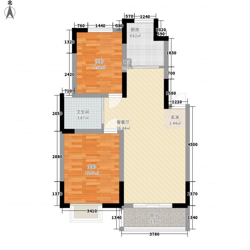 郑东新世界88.00㎡三期A1-A2户型2室2厅1卫