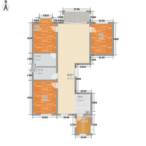 海富金棕榈3室1厅2卫0厨104.17㎡户型图