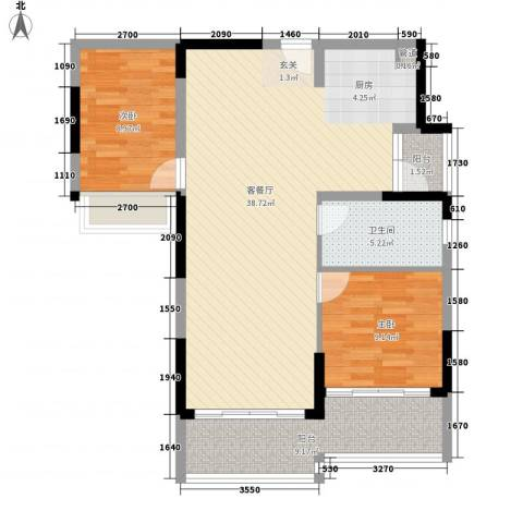 美泰天韵2室1厅1卫0厨104.00㎡户型图