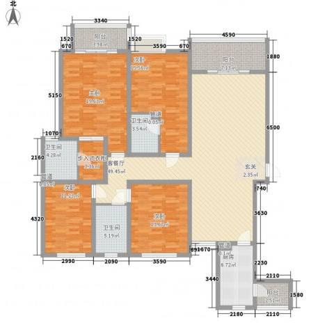 名门华都4室1厅3卫1厨146.46㎡户型图