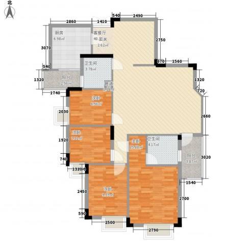 皓月花园4室1厅2卫1厨101.59㎡户型图