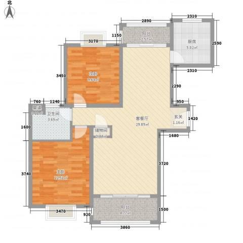 吉利名苑2室1厅1卫1厨98.00㎡户型图