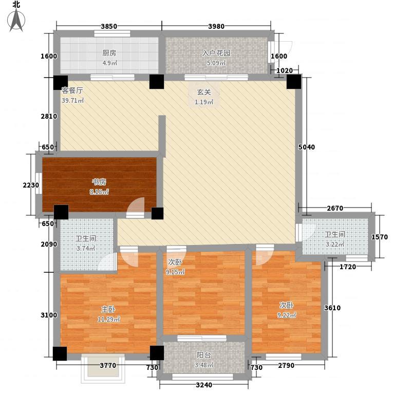 大世界东门金地143.00㎡户型4室2厅