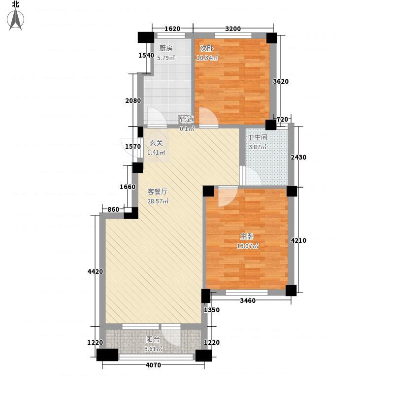 枫阳万嘉1期6、8、10号A户型2室2厅1卫1厨