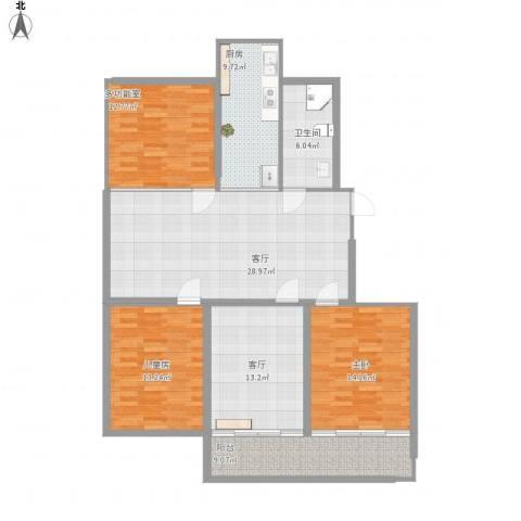 星富花园2室2厅1卫1厨150.00㎡户型图