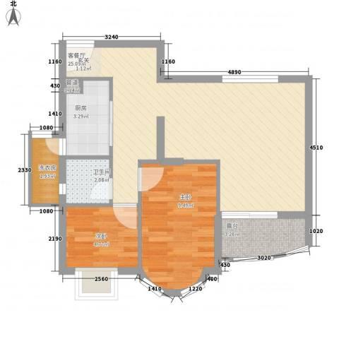 嘉辉豪庭2室1厅1卫1厨123.00㎡户型图