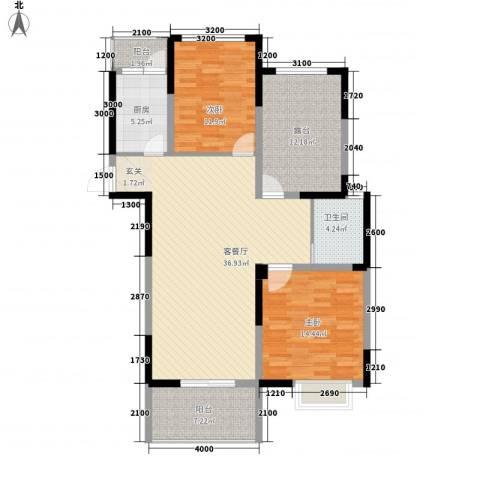 铜北小区2室1厅1卫1厨133.00㎡户型图