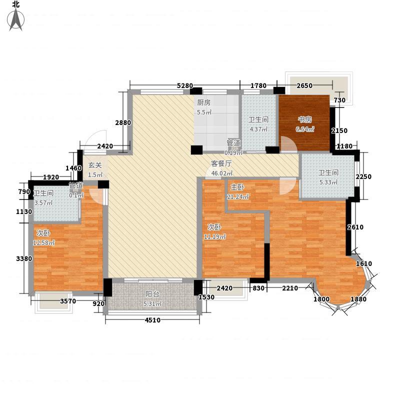 滨江万家星城滨江万家星城户型图二期7幢1单元01室偶数层P2户型户型10室