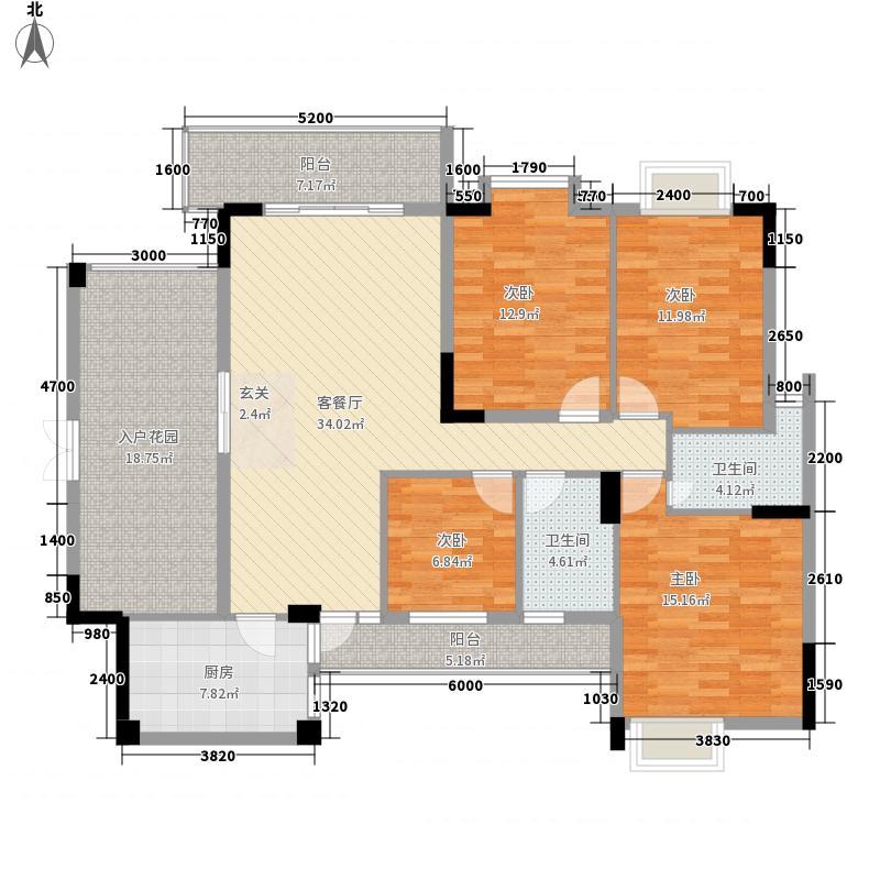 翠湖雅苑155.50㎡3号楼3单元04户型4室2厅2卫