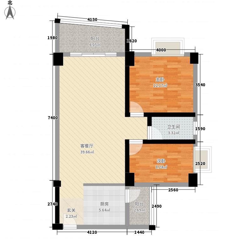 汇星园2室1厅1卫0厨104.00㎡户型图
