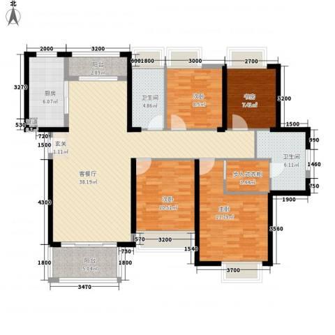 明发・高榜新城4室1厅2卫1厨106.91㎡户型图