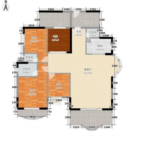 博罗新城建业・金域华府4室1厅3卫1厨190.00㎡户型图