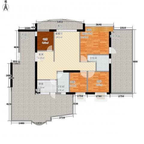 嘉辉豪庭4室1厅2卫1厨145.00㎡户型图
