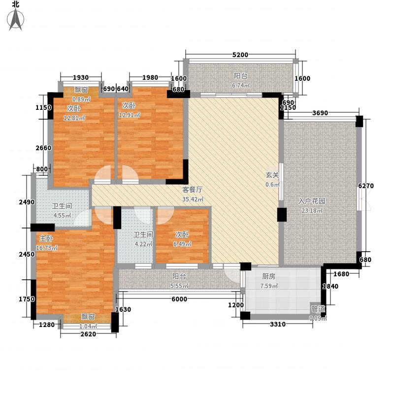翠湖雅苑15.50㎡3号楼1单元03户型4室2厅2卫